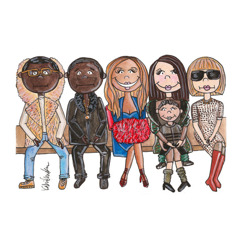 Front Row Fashion Week Illustration