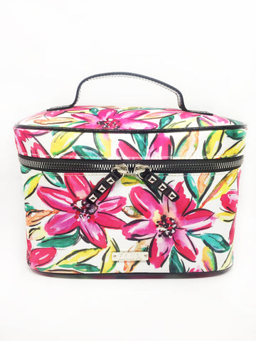 Hibiscus Nylon Train Case