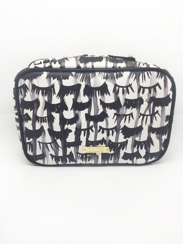 Lashes Saffiano 3 Piece Brush Holder Cosmetic Bag