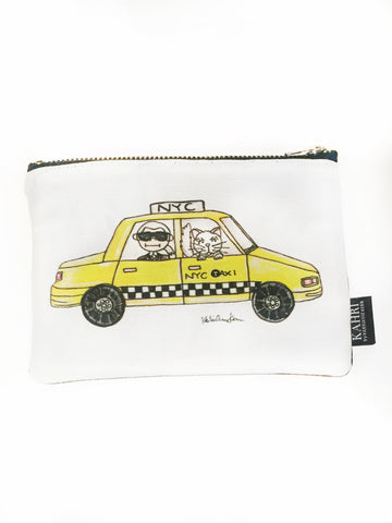 Karl in a Cab Coin Purse