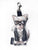 Mini Karl Lagerwoof Doll Bag Charm