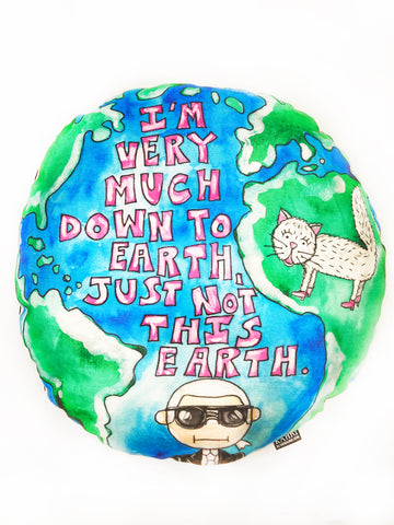 Karl Quote Earth Pillow