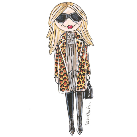 Little Kate Moss Illustration
