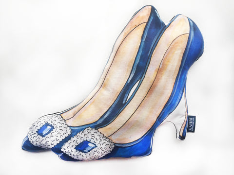 Blue High Heels Pillow