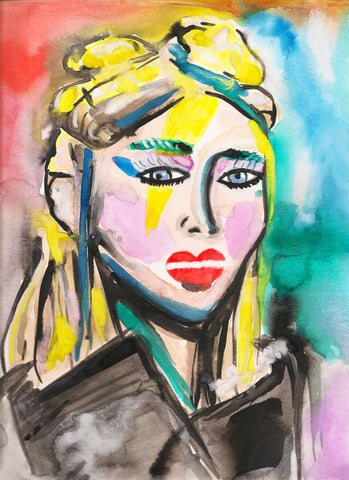 Margiela Makeup Watercolor Painting
