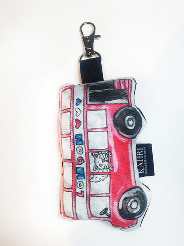 Mini London Bus Doll Bag Charm