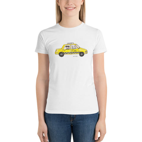 Little Karl in a Cab Short sleeve women's t-shirt