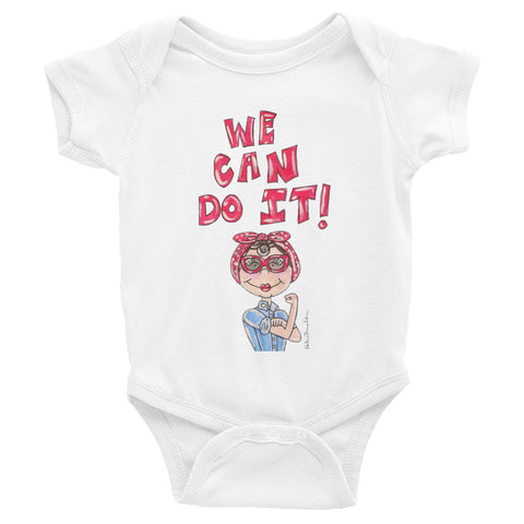Little Rosie the Riveter Quote Infant Bodysuit