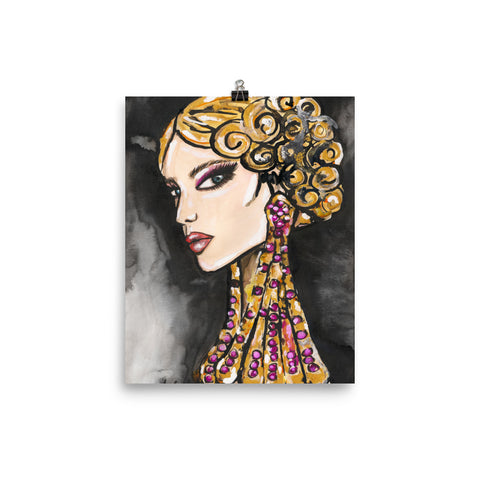 Earring Girl Art Print