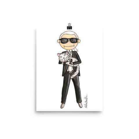 Little Karl Lagerfeld Art Print