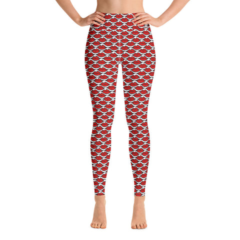 Red Lips Yoga Leggings