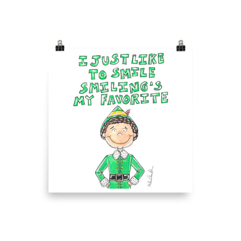 Buddy the Elf Quote Art Print