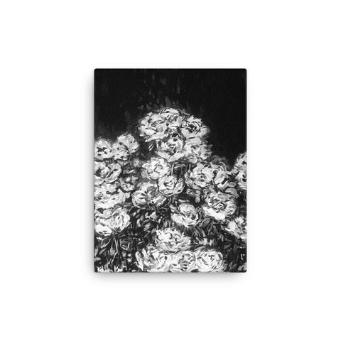 Black and White Flowers Canvas Print