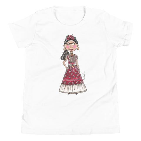 Little Frida Kahlo Youth Short Sleeve T-Shirt