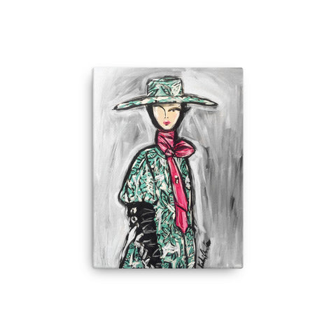 Erdem Girl Canvas Print