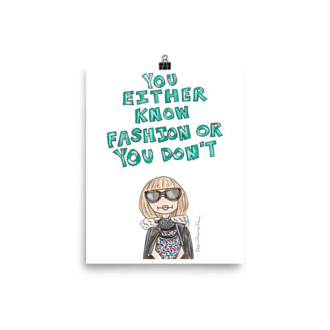 Little Anna Quote Art Print
