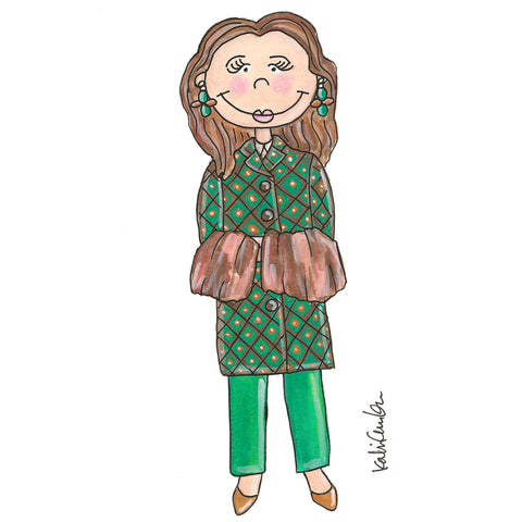 Little Miuccia Prada Illustration