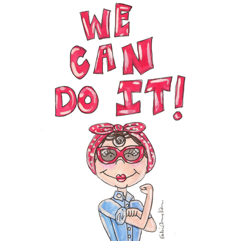 Rosie the Riveter Quote Illustration