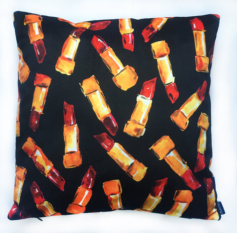 Velvet Red Lipstick Pillow Case