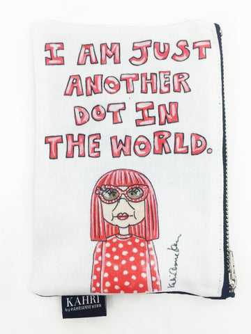 Yayoi Quote Coin Purse