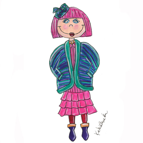 Little Zandra Rhodes Illustration