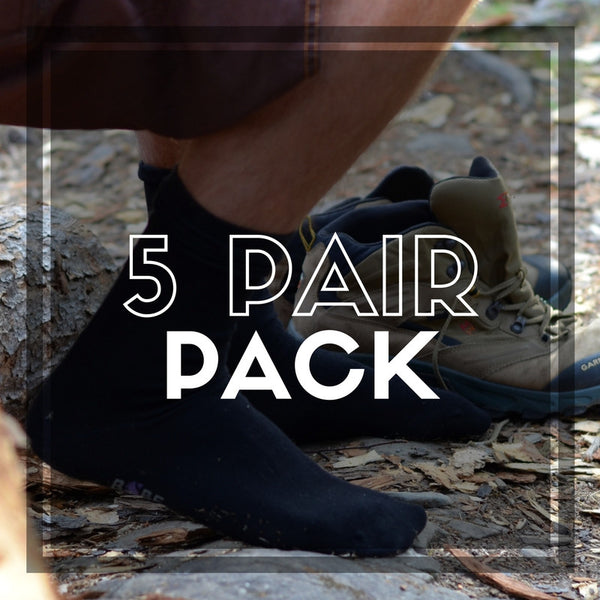5 Pair: BSBF size 13+ bamboo charocal socks