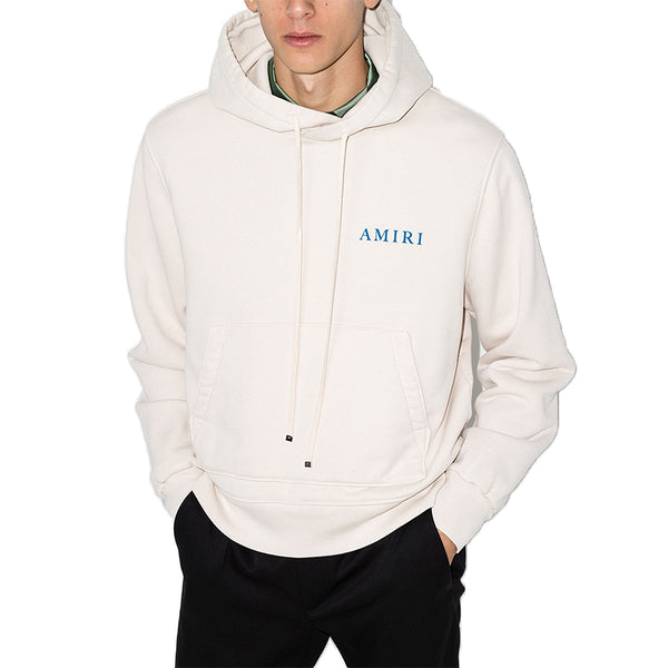 Amiri Blue Backprint Logo Hoodie - Rare Fashion