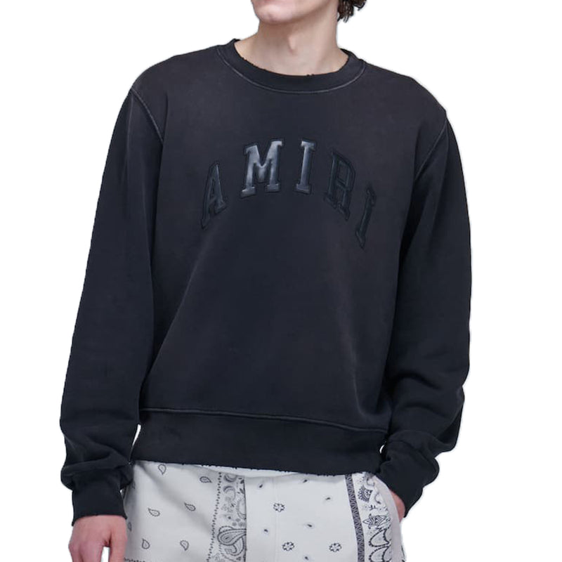 Amiri Leather Logo Sweater - Rare Fashion