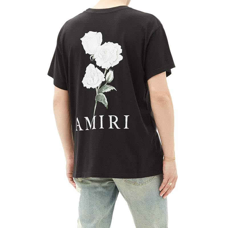 Amiri Rose Backprint T-Shirt - Rare Fashion