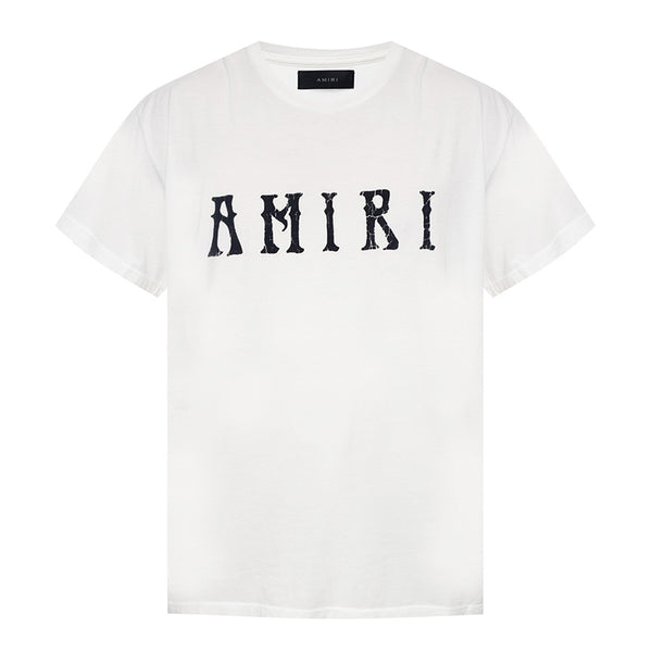 Amiri Velour Logo T-Shirt - Rare Fashion