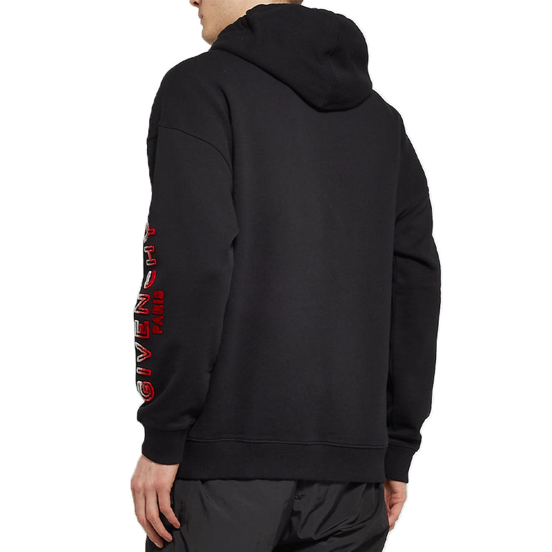 Givenchy Arm Flocked Logo Hoodie