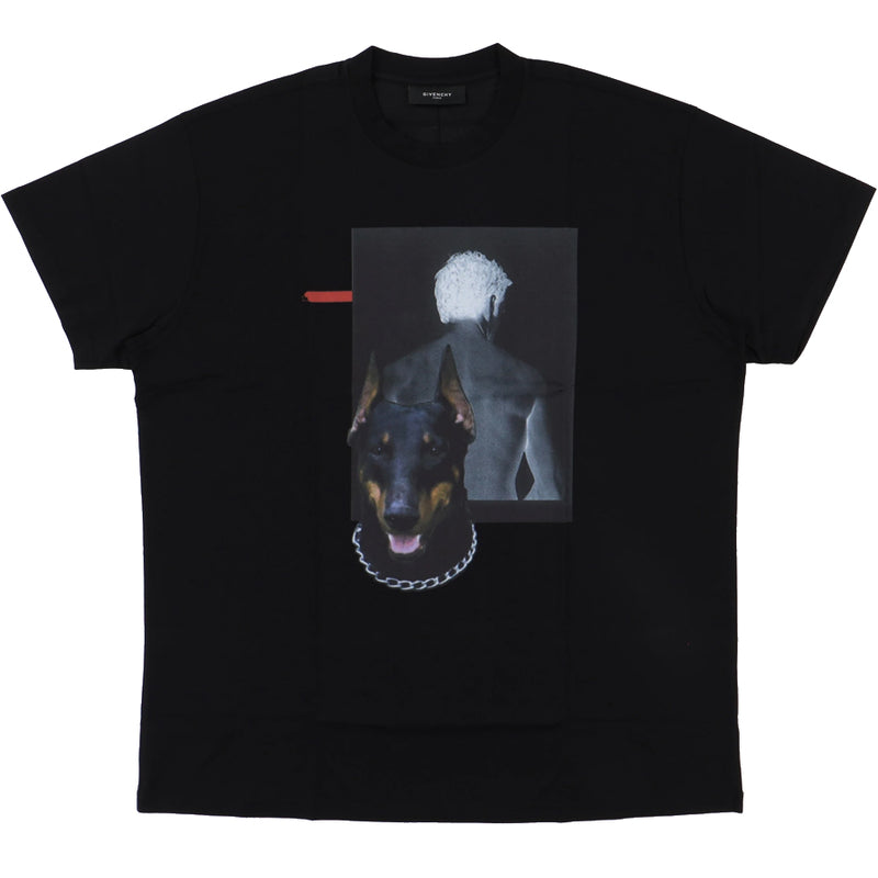 Givenchy Black Shadow Doberman T-Shirt