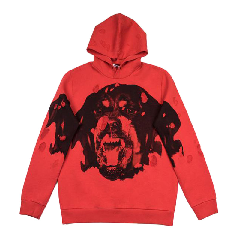 Givenchy Red Rottweiler Hoodie - Rare Fashion