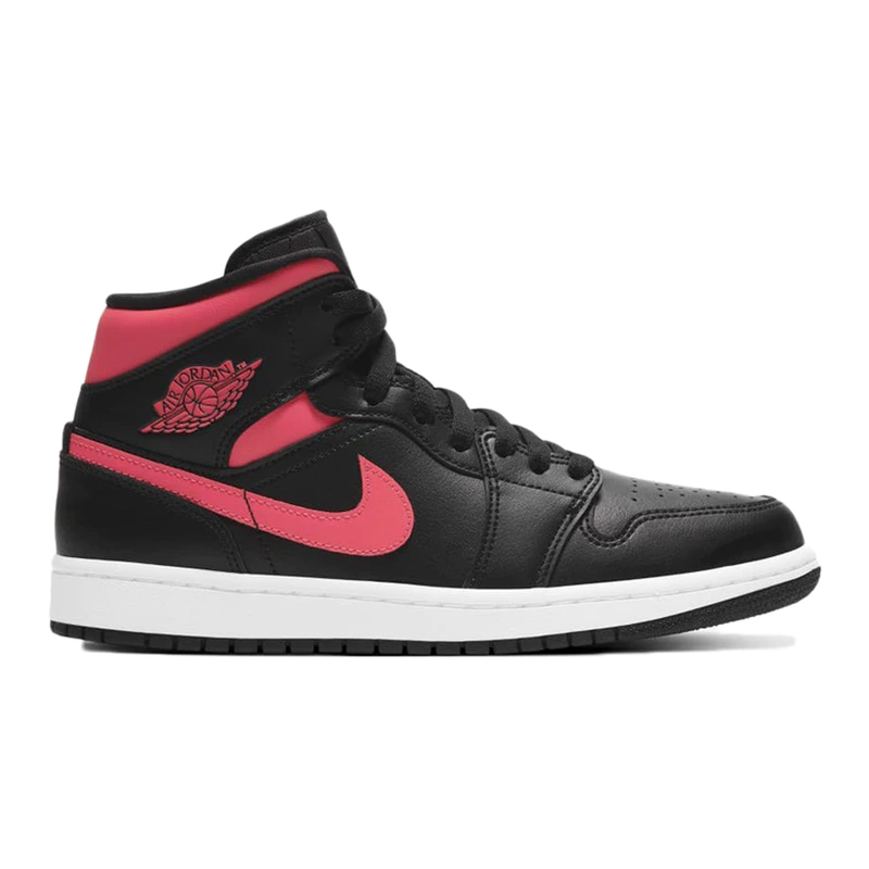 Jordan 1 Mid Black Siren Red - Rare Fashion