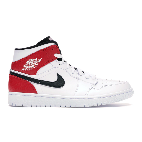 Air Jordan 1 Mid White Black/Gym Red