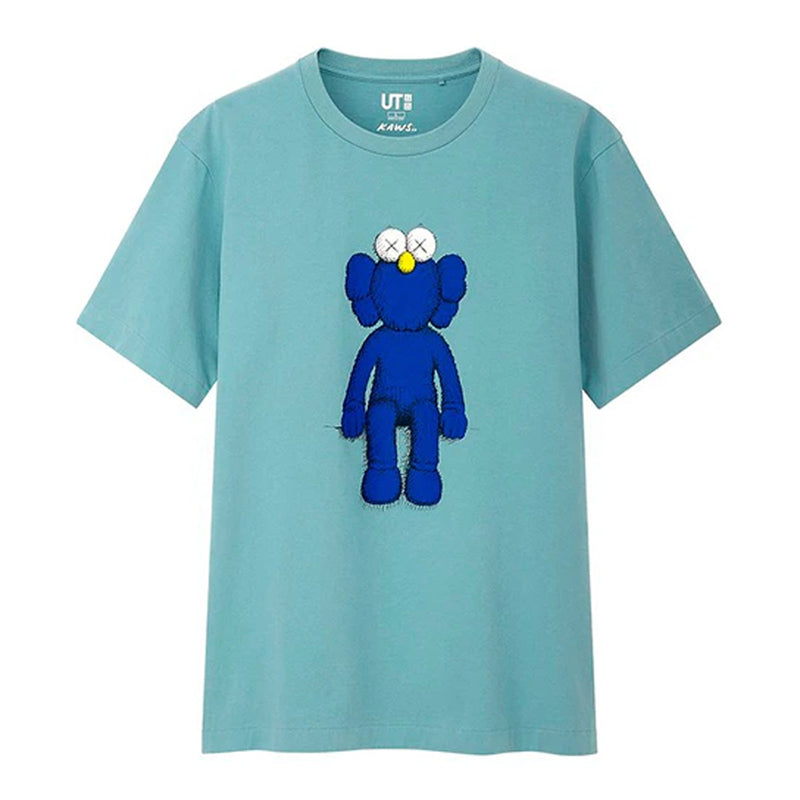 KAWS x Uniqlo Blue BFF T-Shirt - Rare Fashion