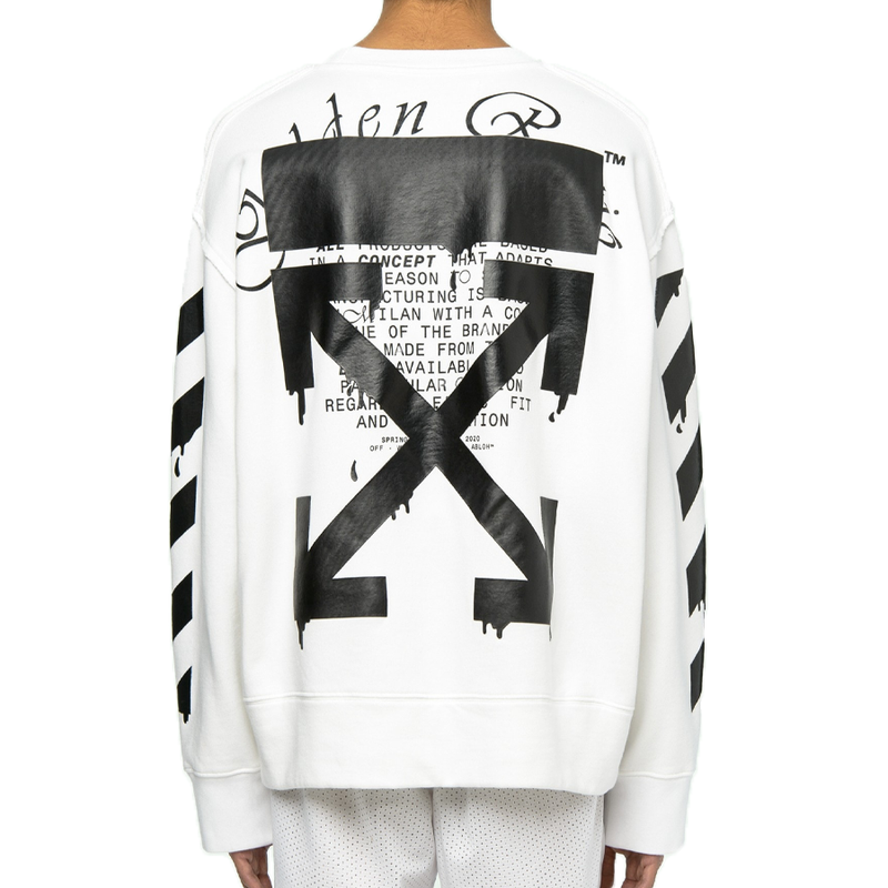 Off White Dripping Arrows Sweatshirt - Rare Fashion