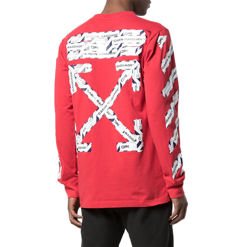 Off White Airport Tape Longsleeve - Rare Fashion