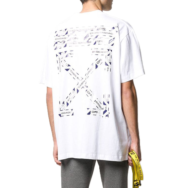 Off White Airport Tape T-Shirt - Rare Fashion