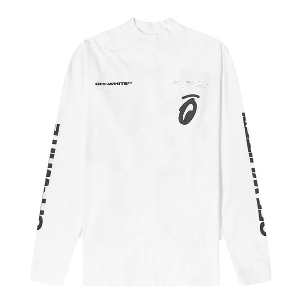 Off White Splitted Arrow Longsleeve - Rare Fashion