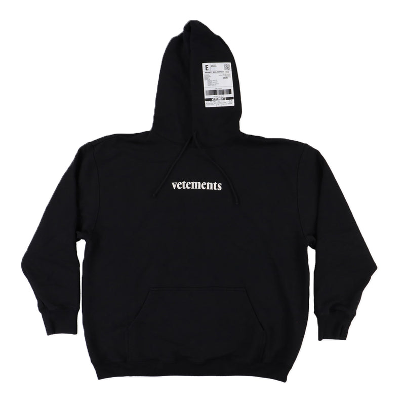 Vetements Logo Patch Hoodie - Rare Fashion