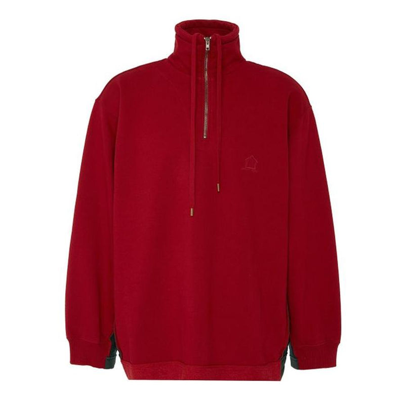 Vetements Inside Out Half Zip Sweatshirt