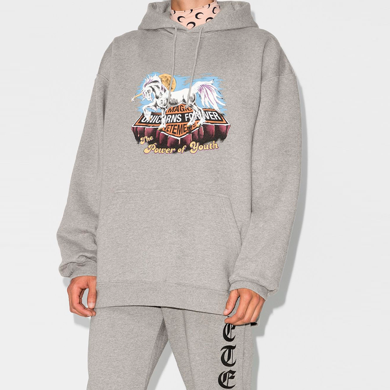 Vetements Magic Unicorn print Hoodie
