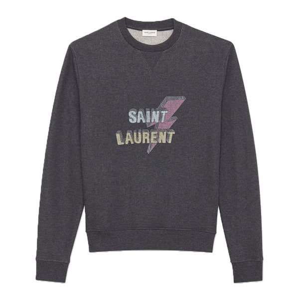 Saint Laurent Lightning Logo Sweater - Rare Fashion