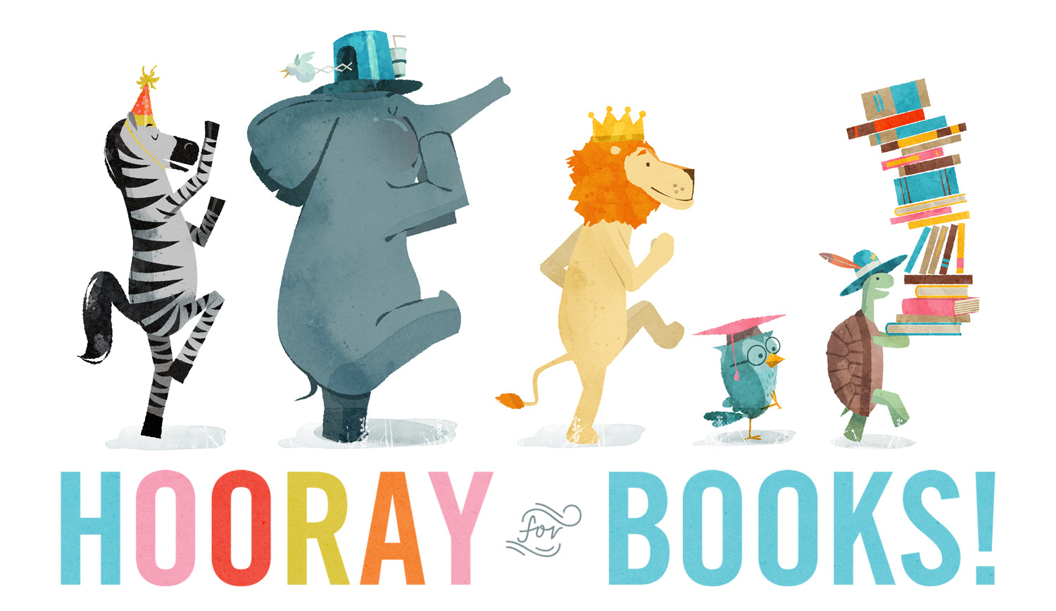 """1 lucky winner will receive a signed copy of Hooray for Books, a signed archival print of """"Hooray for Books,"""" 1 Lollacup, and 1Lollaland Mealtime Set."""