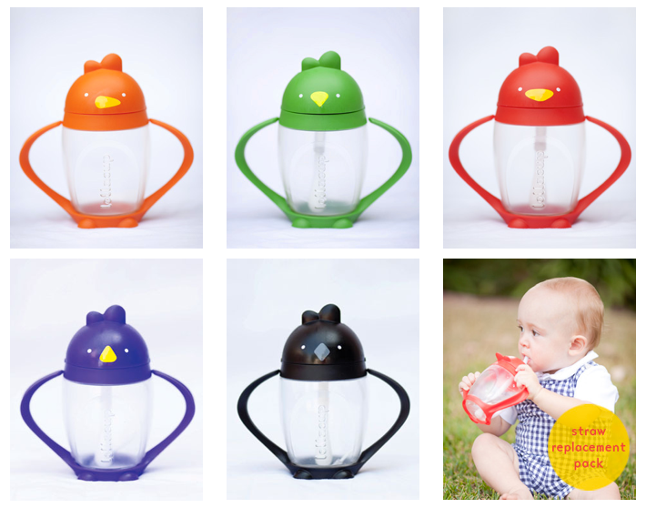Infant/Toddler Straw Sippy Cup Made in USA BPA Free