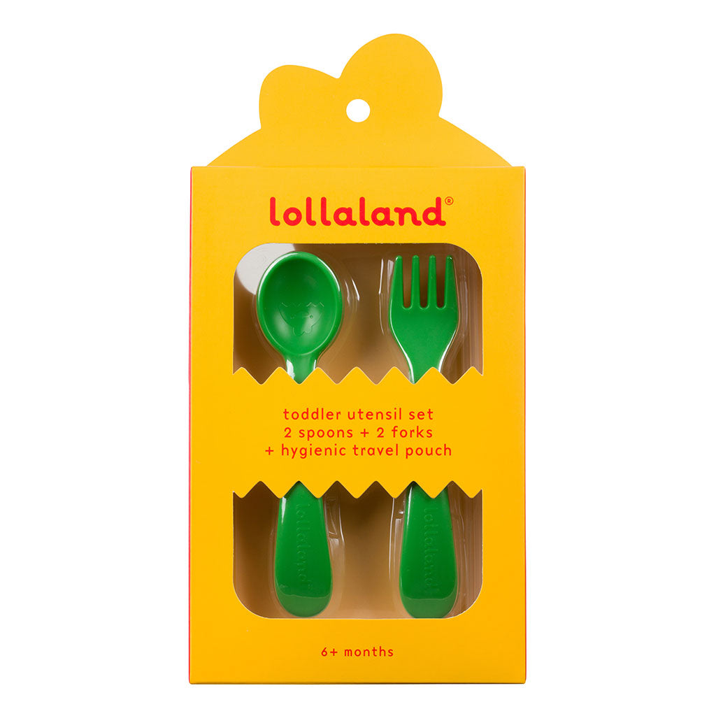 Green Kids Utensil Set