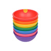 Lollaland Kids' Bowls (Complete Set of 7) - Made in USA, Microwaveable, Dishwasher-Safe, Rainbow Assortment