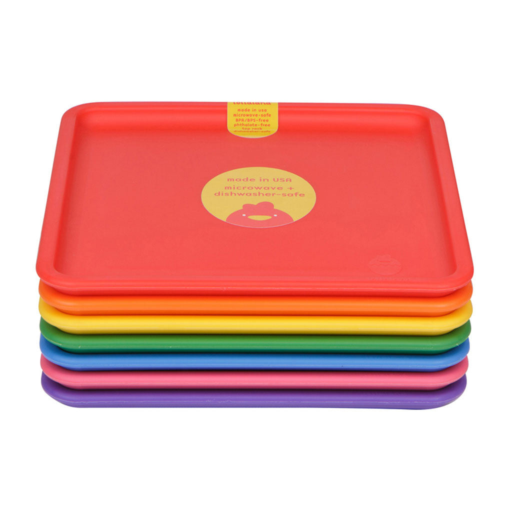 ... Lollaland Kids\u0027 Plates - Made in USA Microwaveable Dishwasher-Safe ...  sc 1 st  Lollaland & 7 Plate Set for Kids - Made in USA Microwaveable BPA-free Rainbow ...