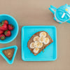 Lollaland Turquoise 4-Piece Gift Set: Lollacup and Kids' Plate, Bowl, Dipping Cup - Made in USA, Microwave-safe, Dishwasher-safe